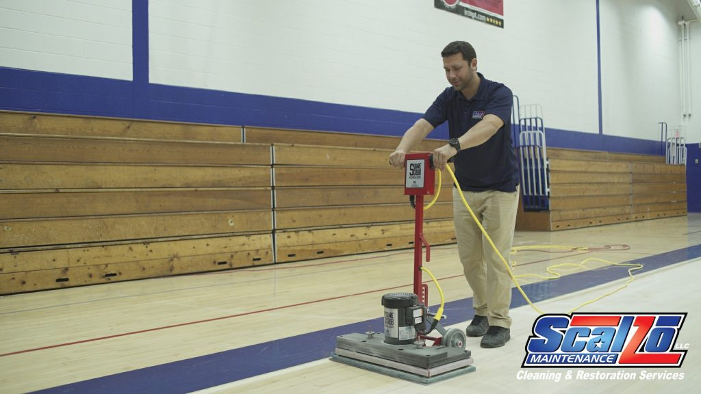 Gym Floor Waxing and Burnishing - Safe, Green Solutions